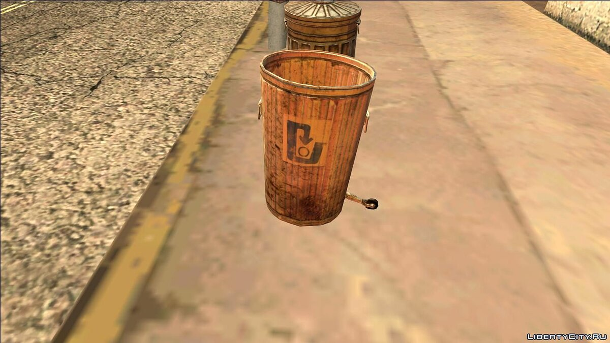 ��овий об'єкт HQ Trash Bin # 2 (Normal Map) для GTA San Andreas