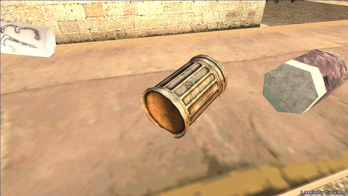 ��овий об'єкт HQ Trash Bin (Normal Map) для GTA San Andreas