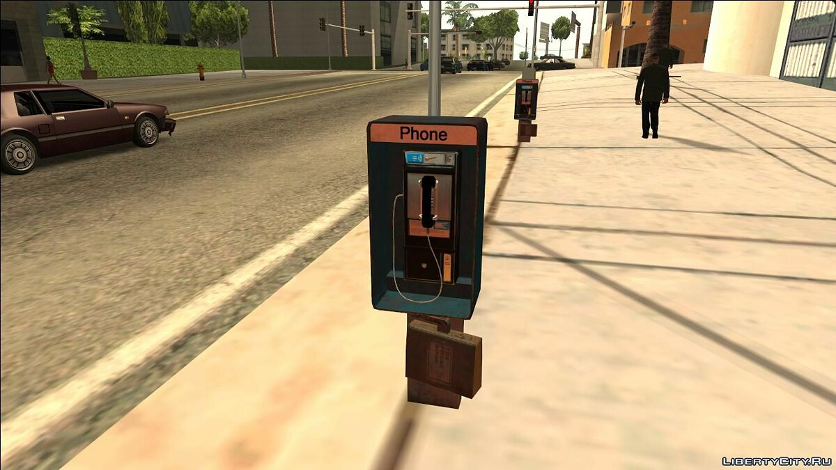 ��овий об'єкт HQ Phone Booth # 2 (Normal Map) для GTA San Andreas