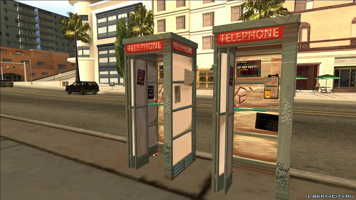��овий об'єкт 4K Telephone Booth (Normal Map) для GTA San Andreas