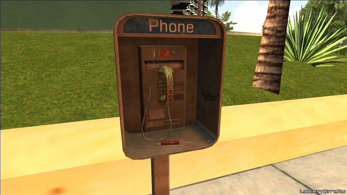 ��овий об'єкт HQ Phone Booth (Normal Map) для GTA San Andreas