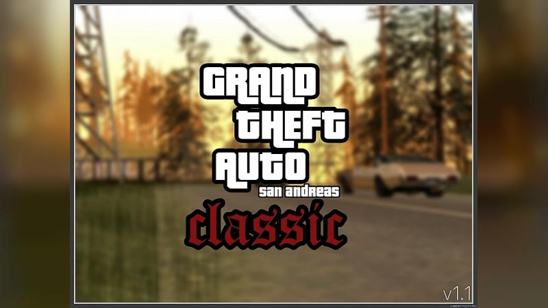 GTA SA Classic v1.0 - PC атмосфера гри в GTA SA Mobile для GTA San Andreas (iOS, Android) - Картинка #1