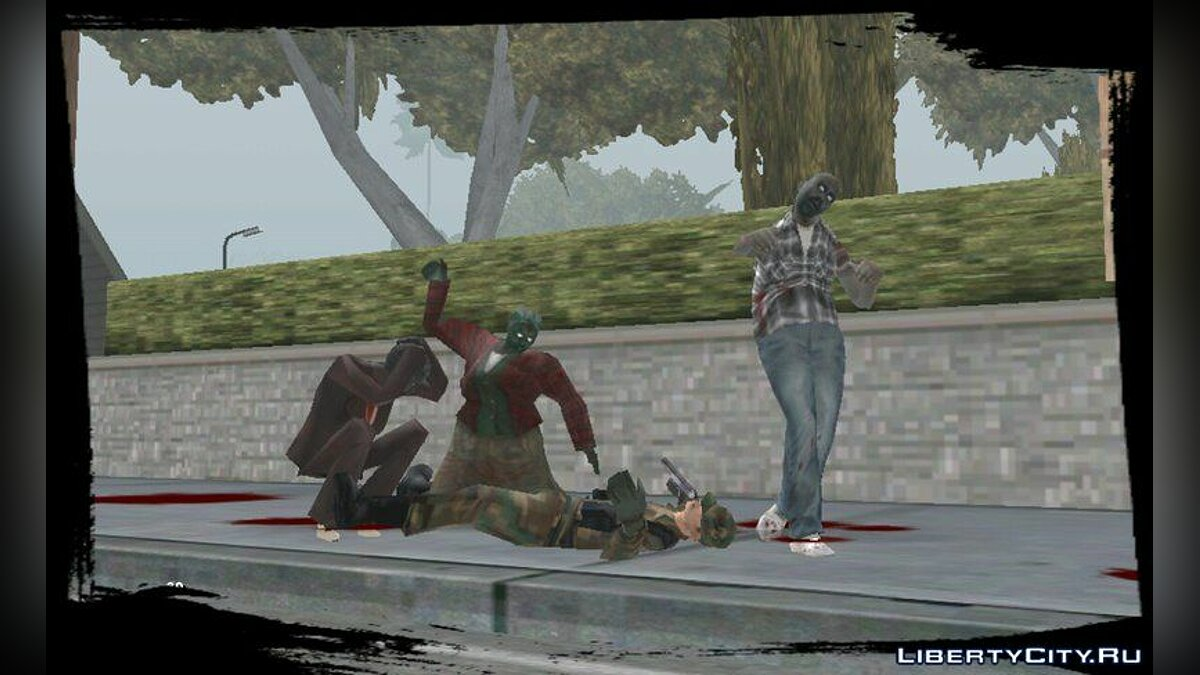 Zombie Mod for Android v1.5 для GTA San Andreas (iOS, Android)