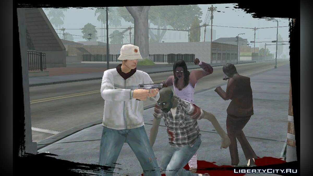 Zombie Mod for Android v1.5 для GTA San Andreas (iOS, Android) - скріншот #2