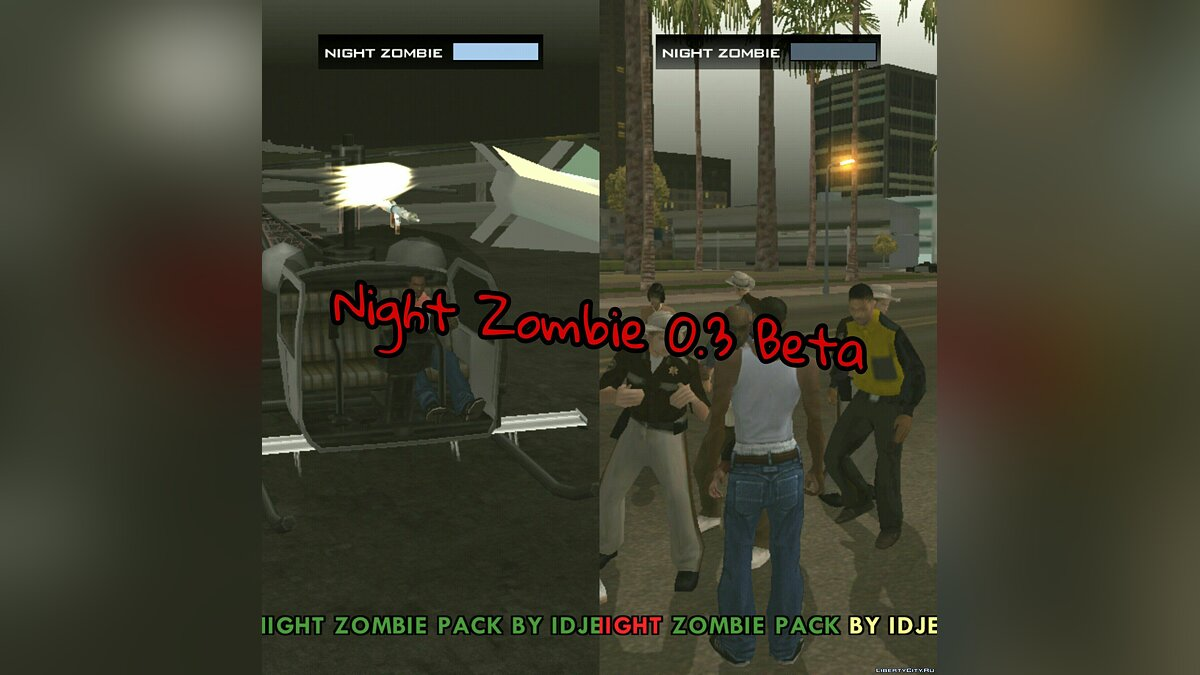 Night Zombie 0.3 (beta) Final для GTA San Andreas (iOS, Android)