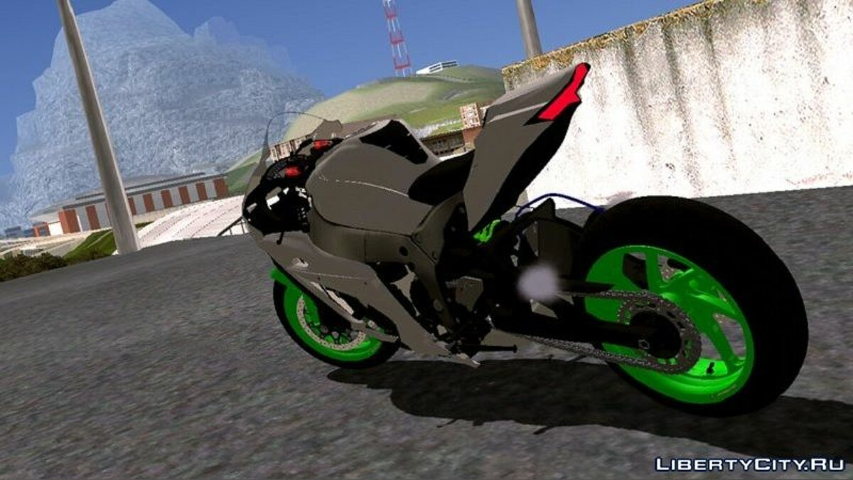 Мотоцикл Kawasaki Ninja ZX10 RR Longarm для GTA San Andreas (iOS, Android)