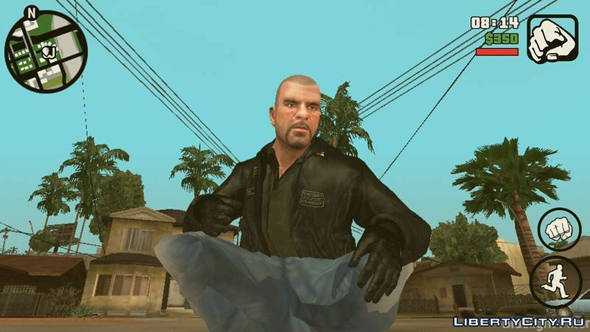 ��овий персонаж Johnny Klebitz (Player.img / Android) для GTA San Andreas (iOS, Android)