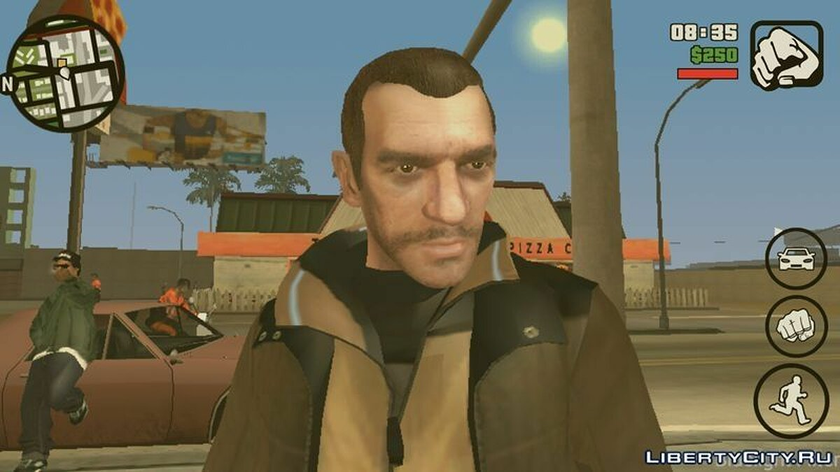 Niko Bellic Skin для GTA San Andreas (iOS, Android) - скріншот #2
