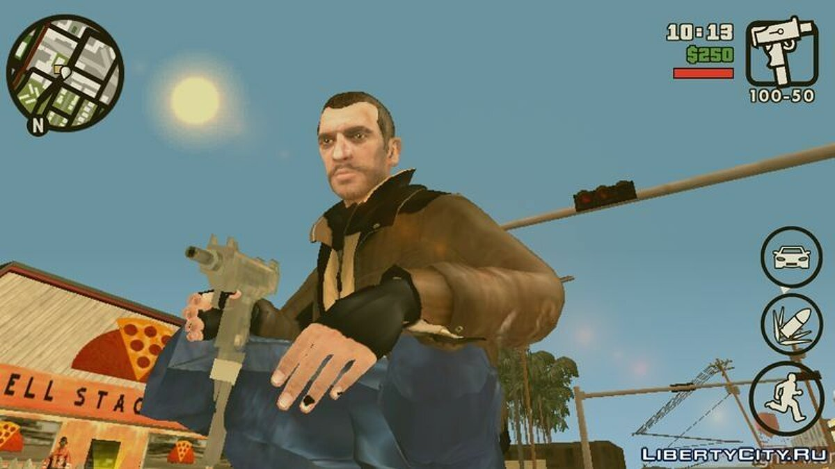 Niko Bellic Skin для GTA San Andreas (iOS, Android)