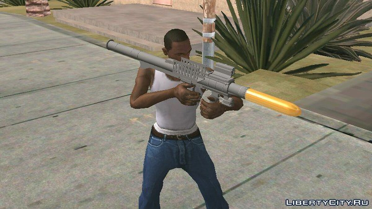 Збройовий мод GTA V Rocket Launcher для GTA San Andreas (iOS, Android)