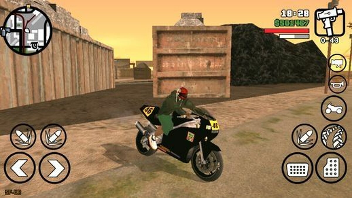 Automatic Motorcycle Helmet for Android для GTA San Andreas (iOS, Android) - Картинка #1