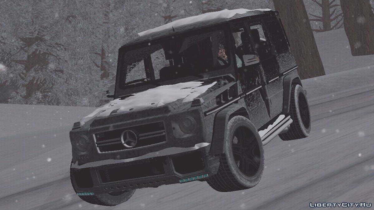 Mercedes-Benz G-Wagen (Зимова версія) для GTA San Andreas (iOS, Android) - Картинка #3