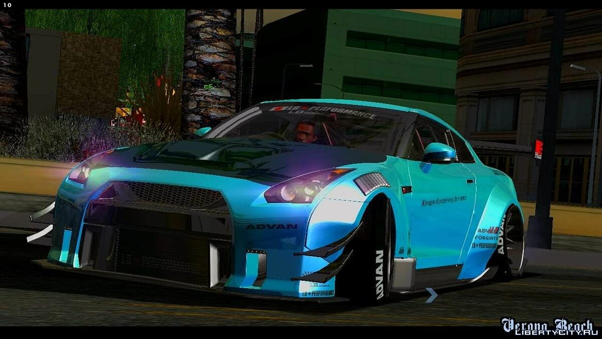 Nissan GTR-R35 Liberty Walk Type 2 2018 для GTA San Andreas (iOS, Android)