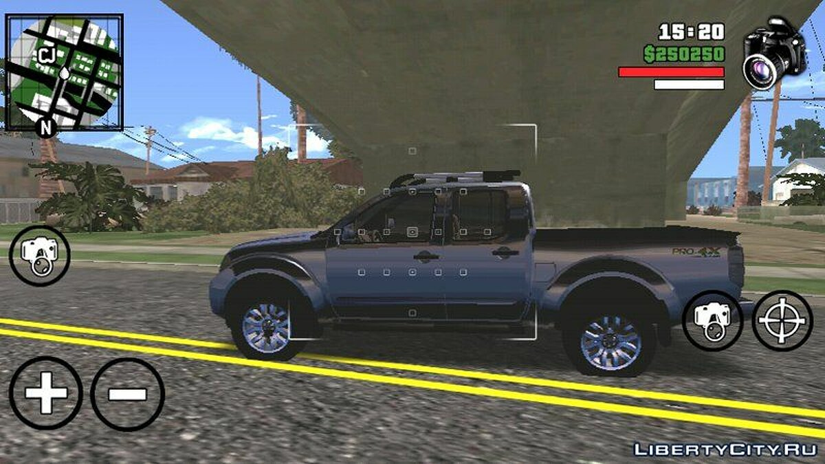 Nissan Frontier для GTA San Andreas (iOS, Android)