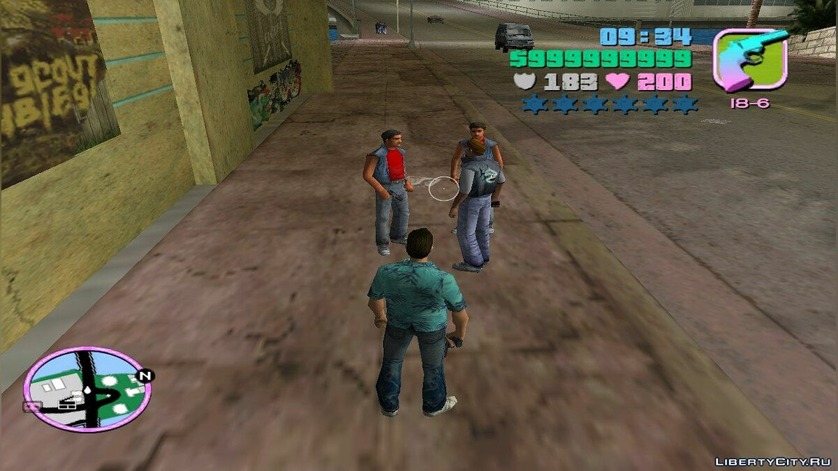��овий персонаж Unused Sharks Gang Member для GTA Vice City