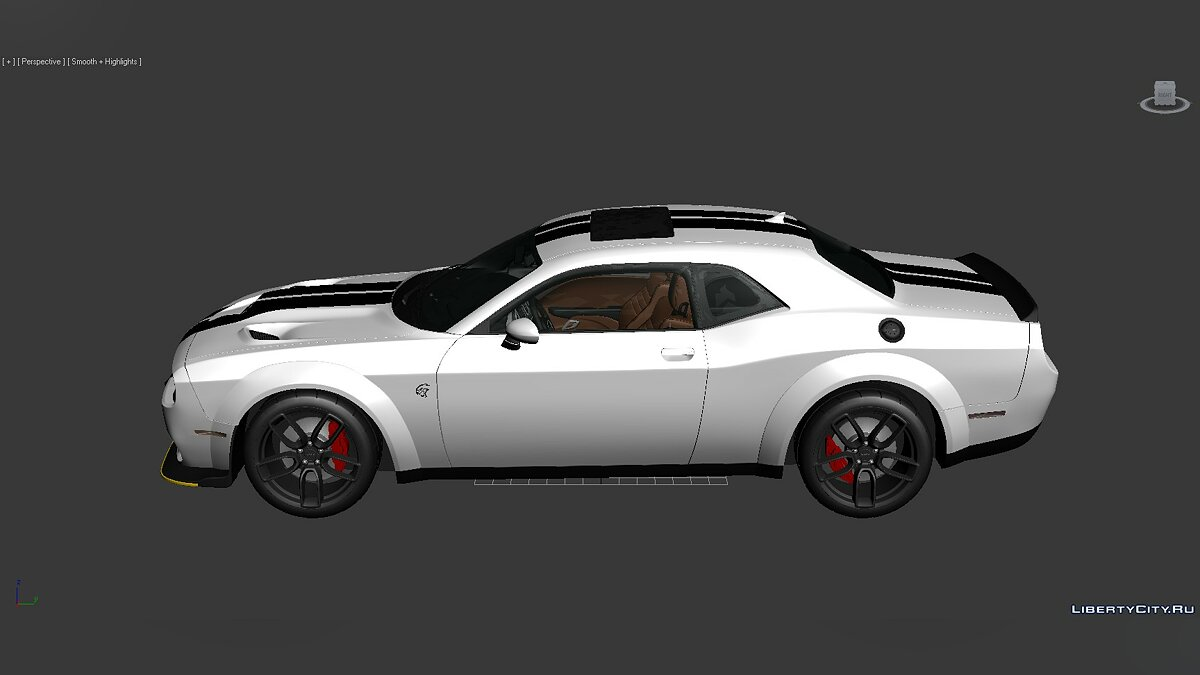 3D Models Dodge Challenger SRT Hellcat Widebody 2018 для модмейкерів - Картинка #2