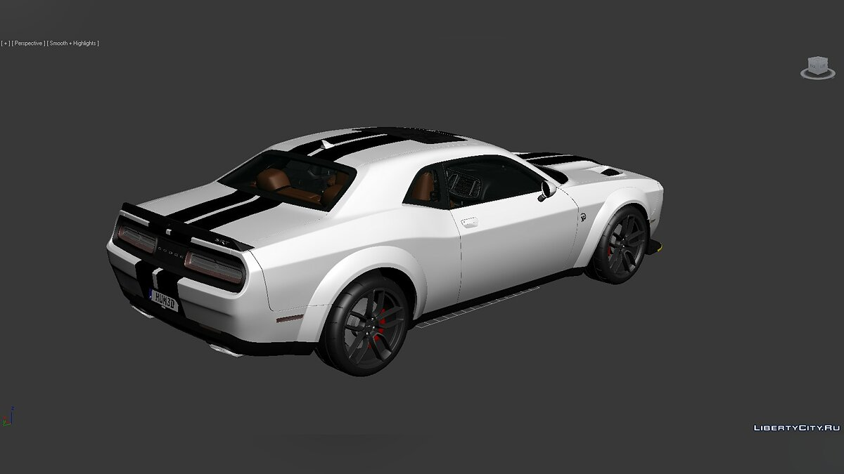 3D Models Dodge Challenger SRT Hellcat Widebody 2018 для модмейкерів - Картинка #4