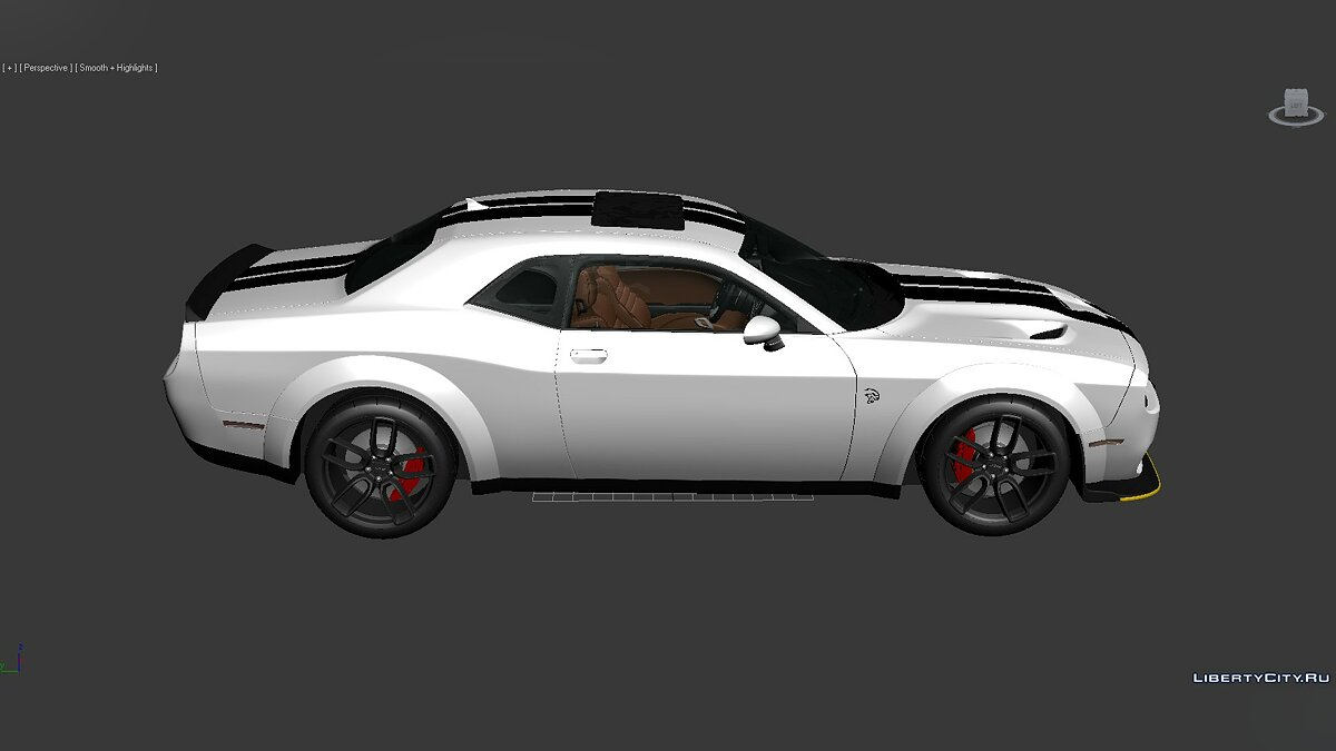 3D Models Dodge Challenger SRT Hellcat Widebody 2018 для модмейкерів - Картинка #6