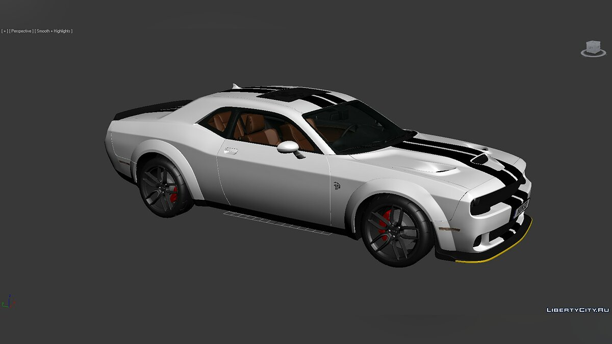 3D Models Dodge Challenger SRT Hellcat Widebody 2018 для модмейкерів - Картинка #8