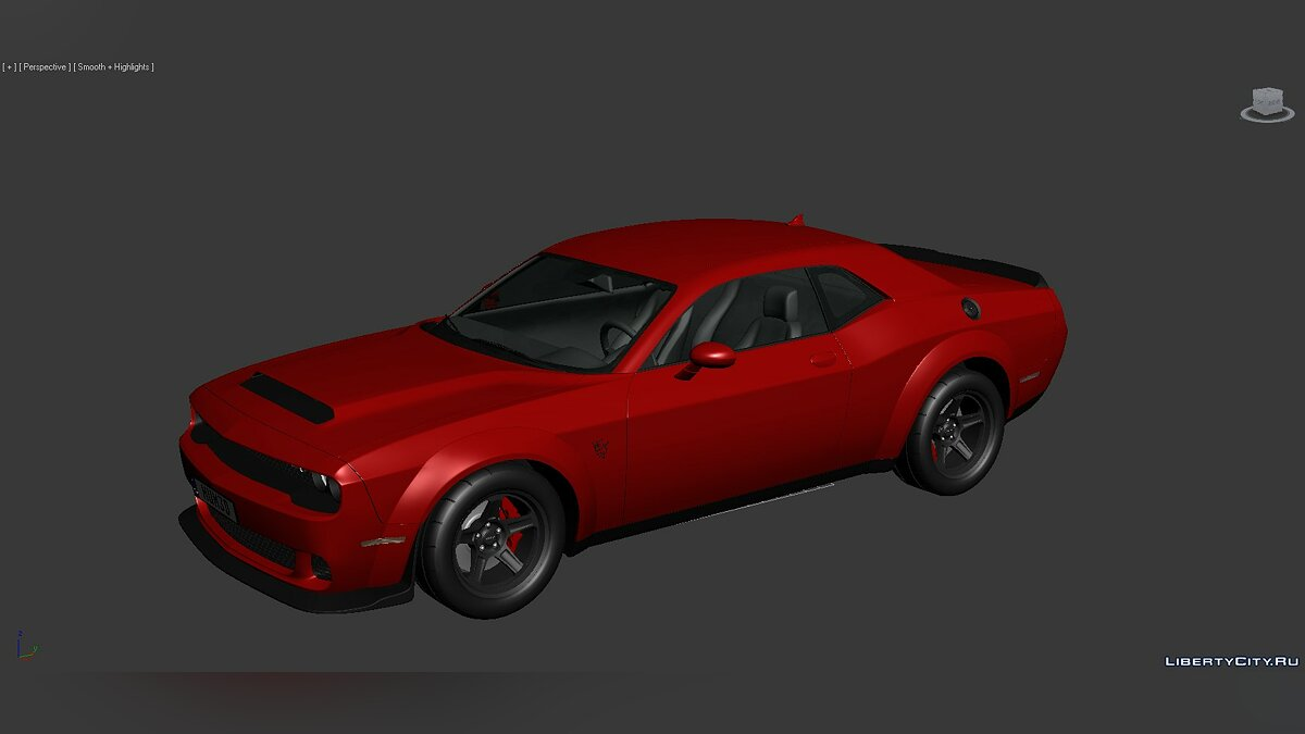 3D Models Dodge Challenger SRT Demon 2018 для модмейкерів - Картинка #1
