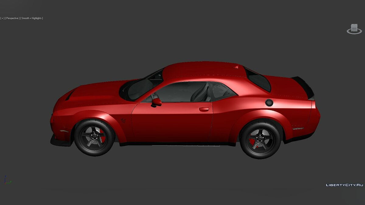 3D Models Dodge Challenger SRT Demon 2018 для модмейкерів - Картинка #2
