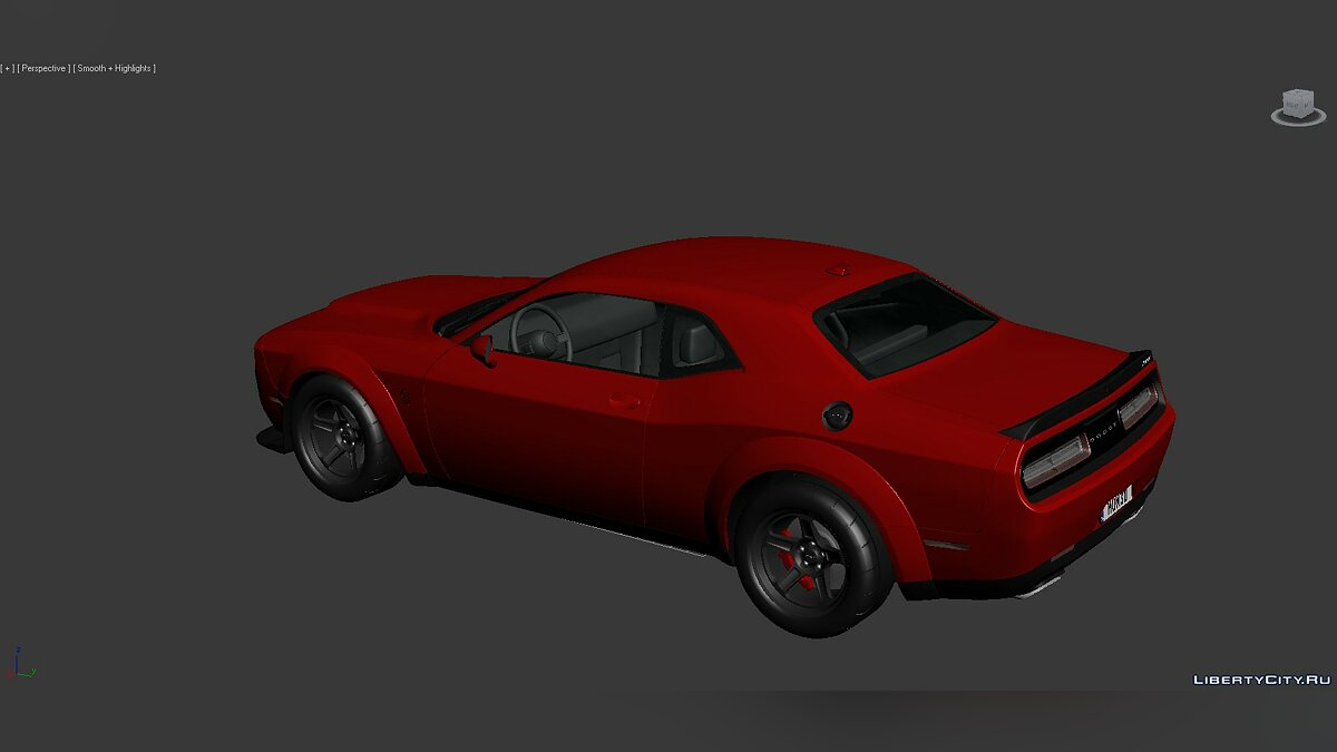 3D Models Dodge Challenger SRT Demon 2018 для модмейкерів - Картинка #3
