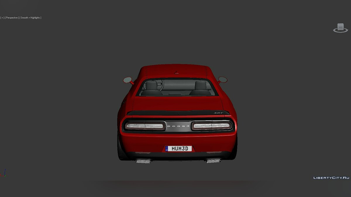 3D Models Dodge Challenger SRT Demon 2018 для модмейкерів - Картинка #4