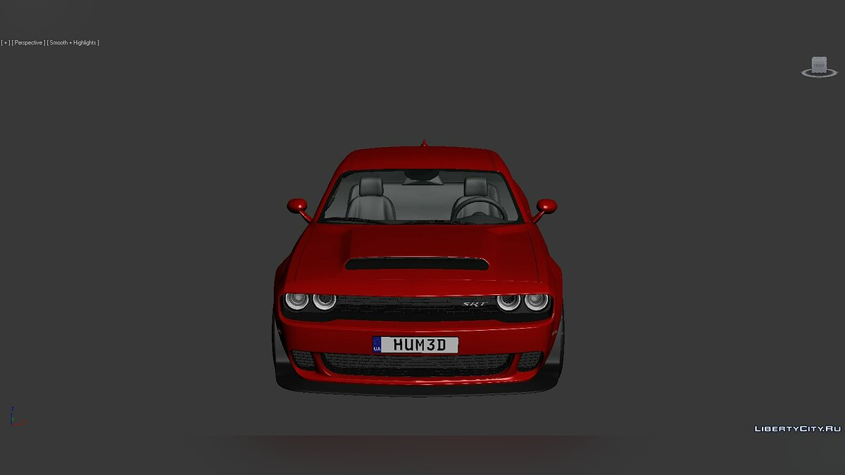 3D Models Dodge Challenger SRT Demon 2018 для модмейкерів - Картинка #6