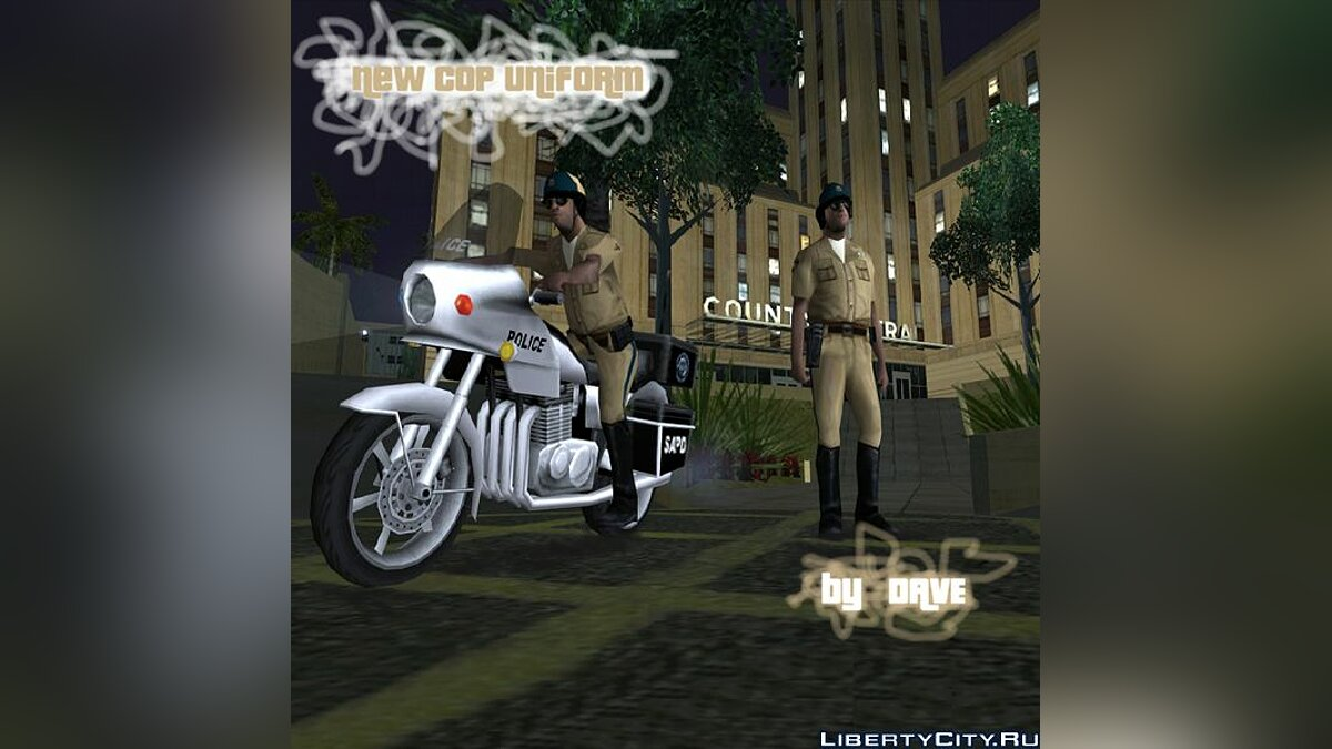 New uniform cops on bike для GTA San Andreas